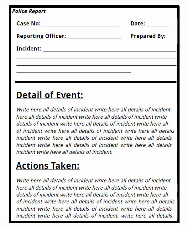 Crime Scene Report Template Lovely 26 Of Blank Template for A Murder Detective Report