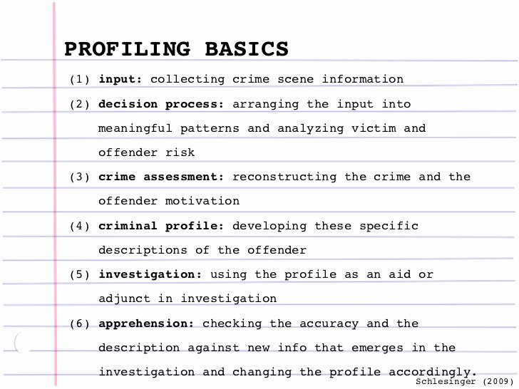 Crime Scene Report Template Lovely Criminal Profiling