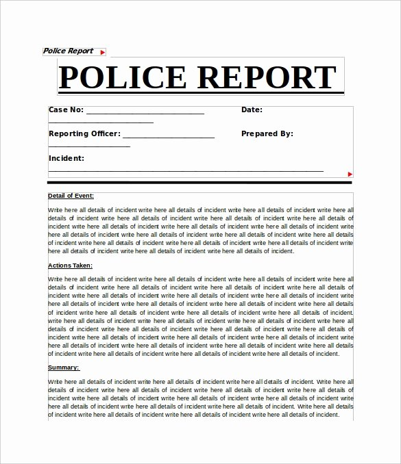 Crime Scene Report Template New 11 Sample Crime Reports Pdf Word
