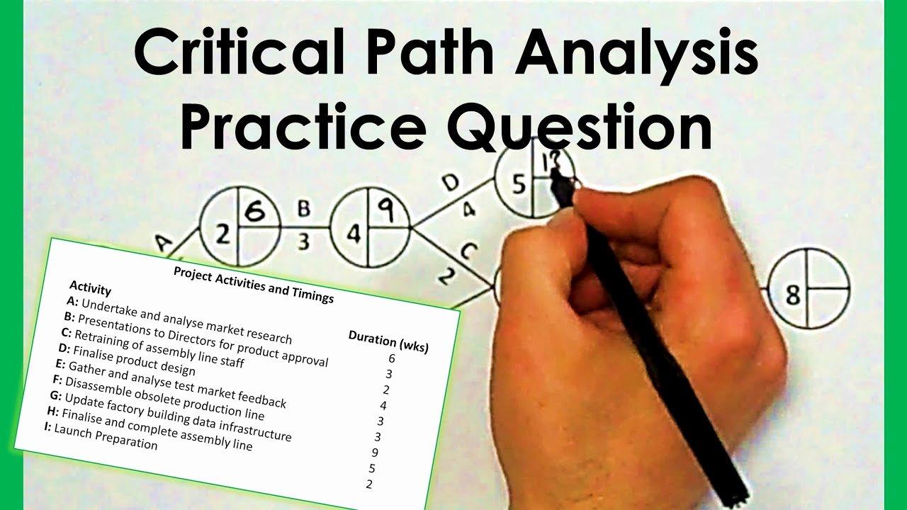 Critical Path Analysis Templates Inspirational Critical Path Analysis Worked Answer Part 2 2