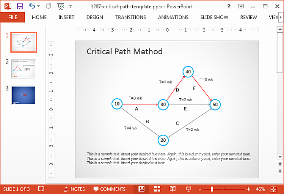 Critical Path Method Template Inspirational Critical Path Method In Powerpoint