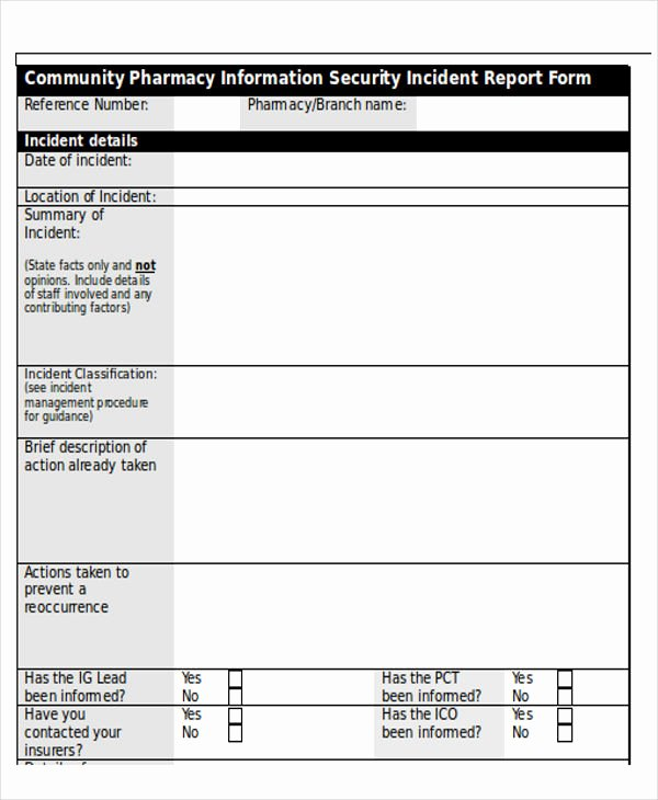 Cyber Security Incident Report Template New 39 Incident Report Templates In Word