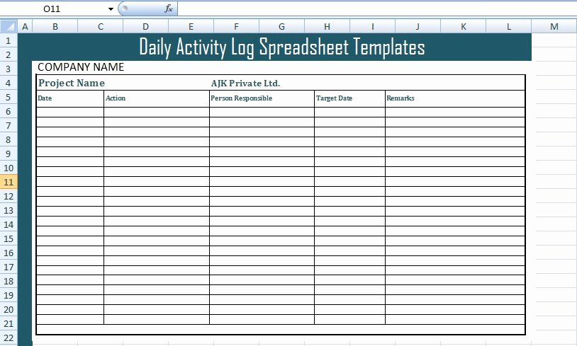 Daily Activity Log Template Excel Elegant Get Daily Activity Log Spreadsheet Templates Free Excel