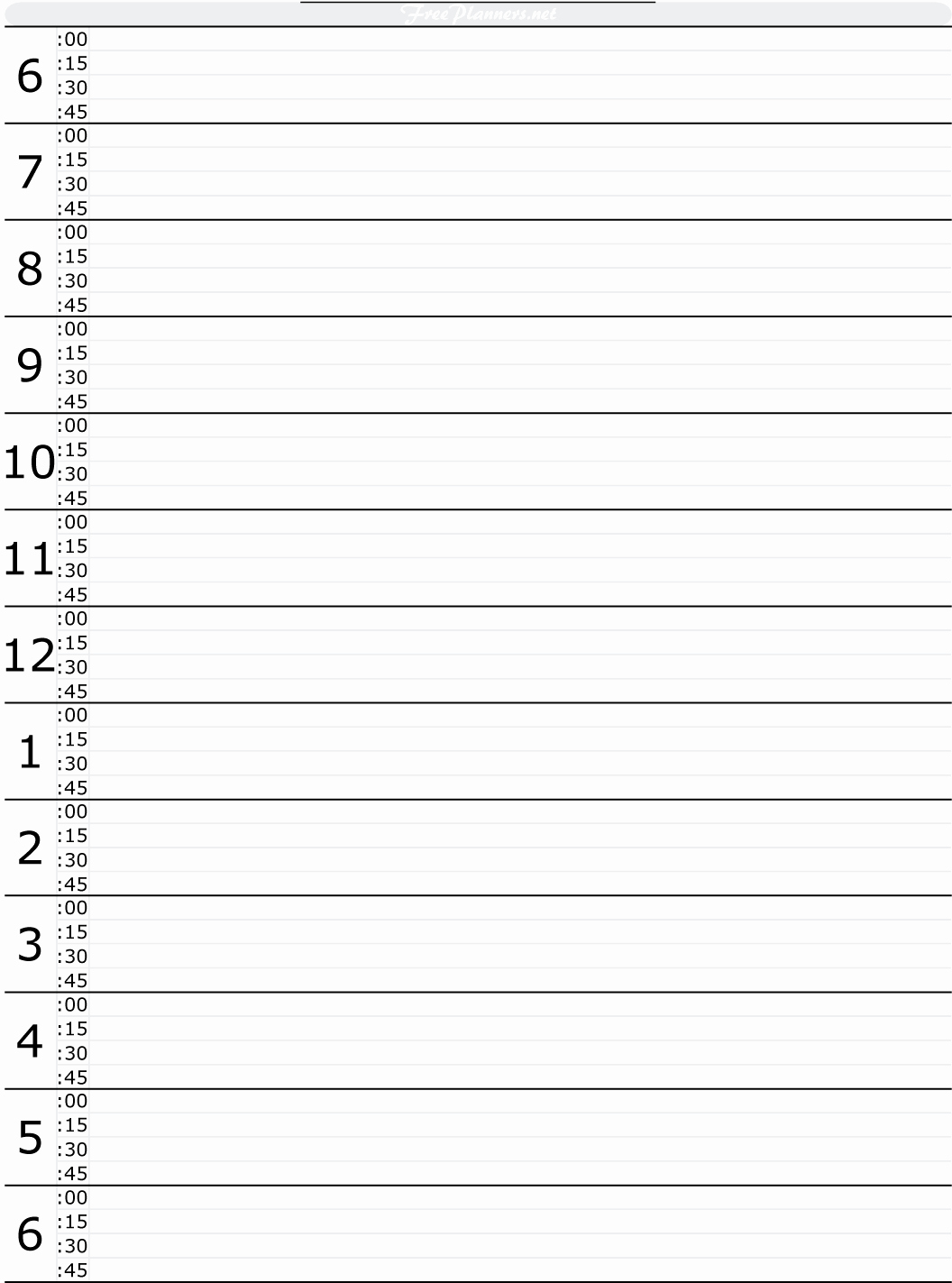 Daily Hourly Schedule Template Inspirational Free Printable Hourly Daily Planner