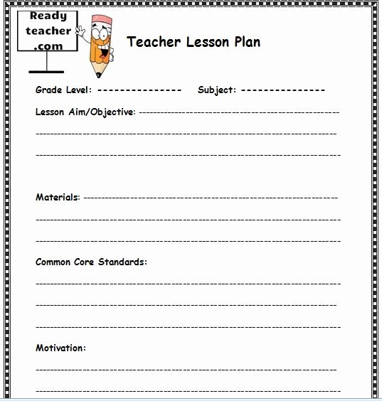 Daily Lesson Plan Template Word Fresh Pin On Lesson Plan Templates