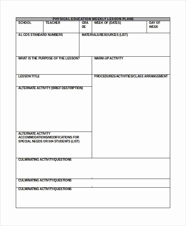 Daily Lesson Plan Template Word Luxury Sample Lesson Plan In Word 10 Examples In Word