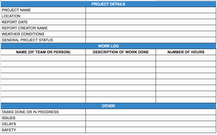 Daily Report Template Excel Best Of Construction Daily Reports the Ultimate Guide