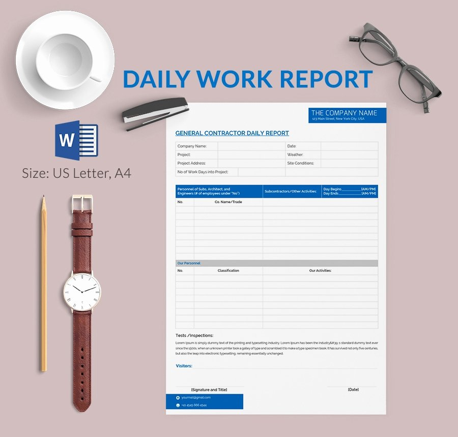 Daily Report Template Excel Best Of Daily Report Template 25 Free Word Excel Pdf