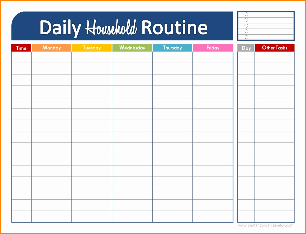 Daily Schedule Template Free New Daily Schedule Maker