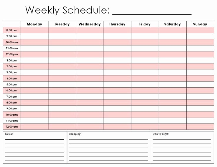 Daily Schedule Template Printable Beautiful 17 Best Images About Schedule Ideas On Pinterest