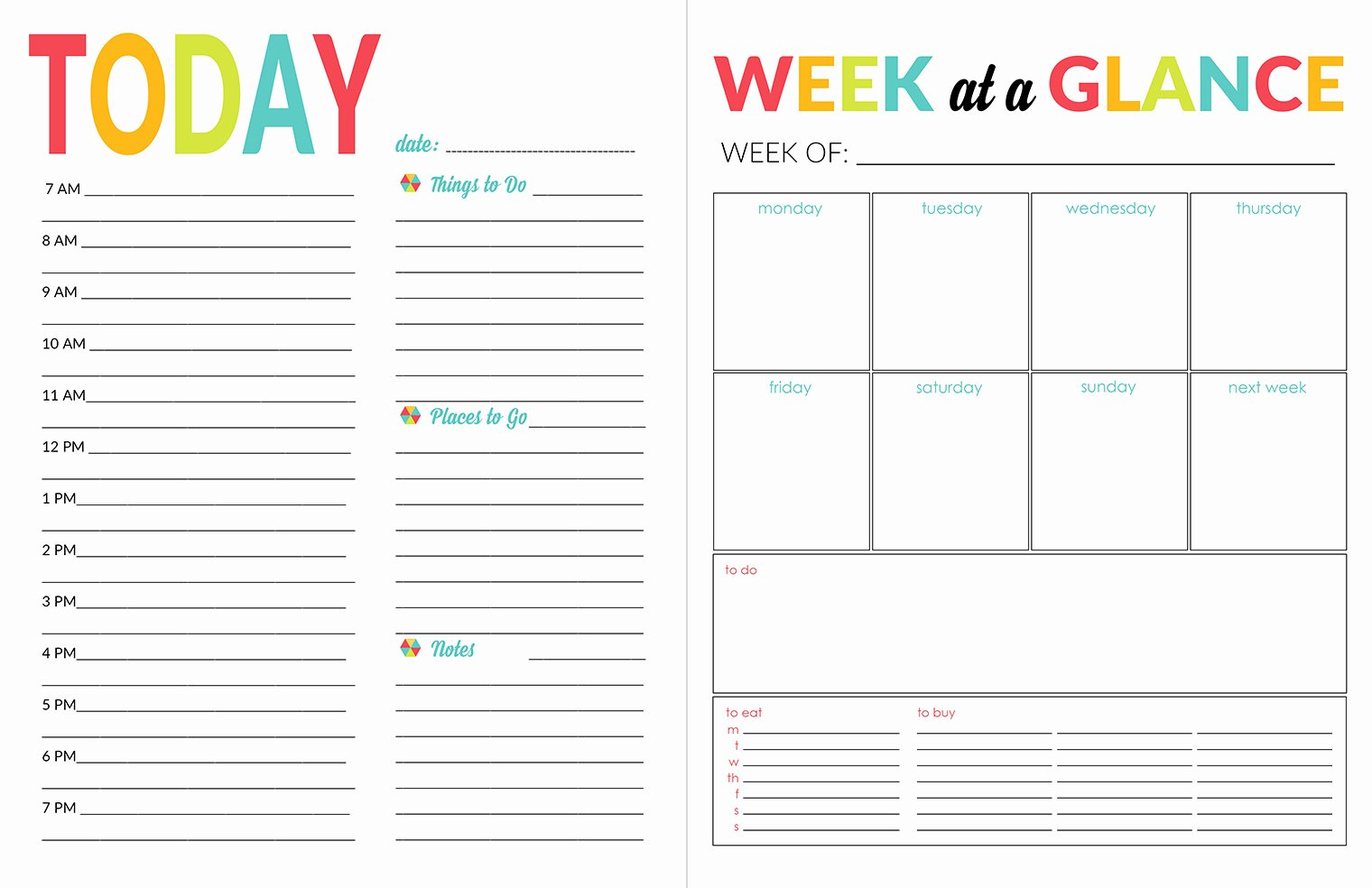 Daily Schedule Template Printable Elegant School Year organizer & Planner Printable Pack Yellow