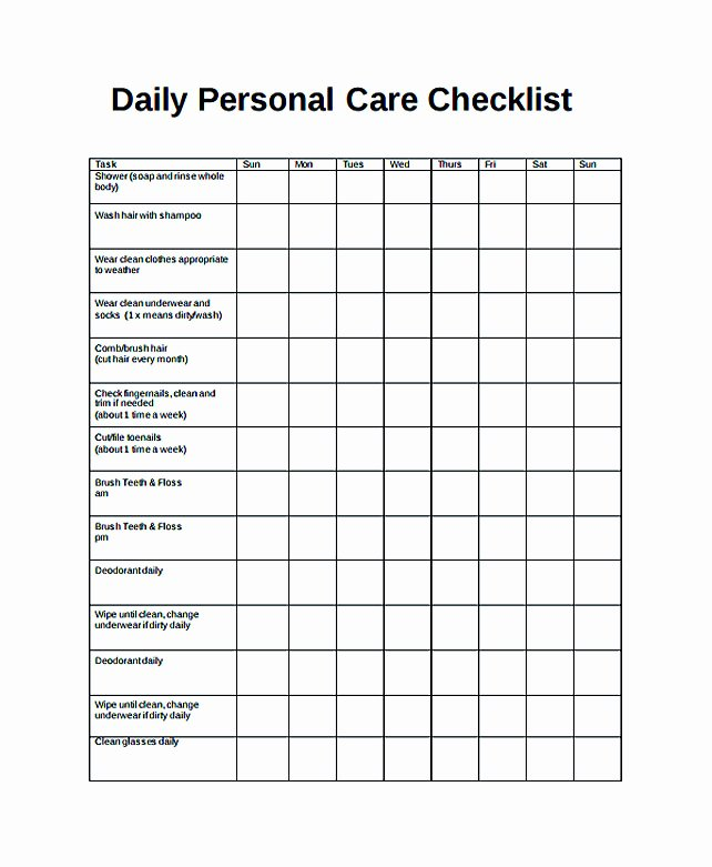 Daily Task List Template Word Awesome Free Daily Checklist Template and Its Purposes