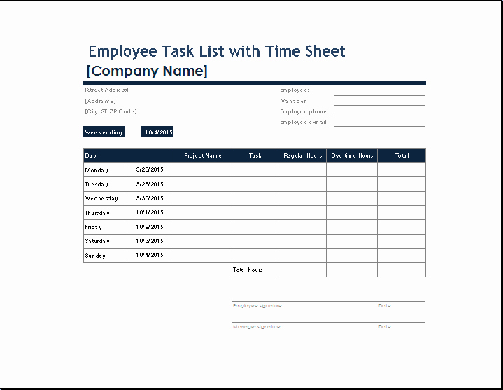 Daily Task List Template Word Beautiful Daily Task Sheet for Employee