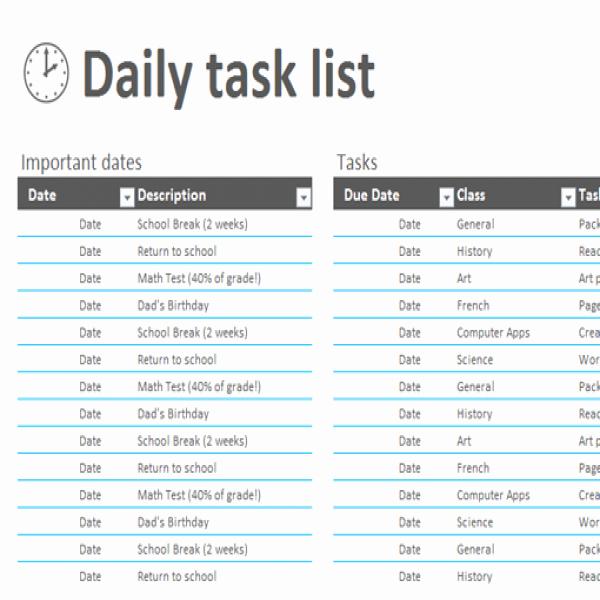 Daily Task List Template Word Best Of Job Task List
