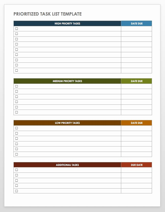 Daily Task List Template Word Inspirational 28 Free Time Management Worksheets