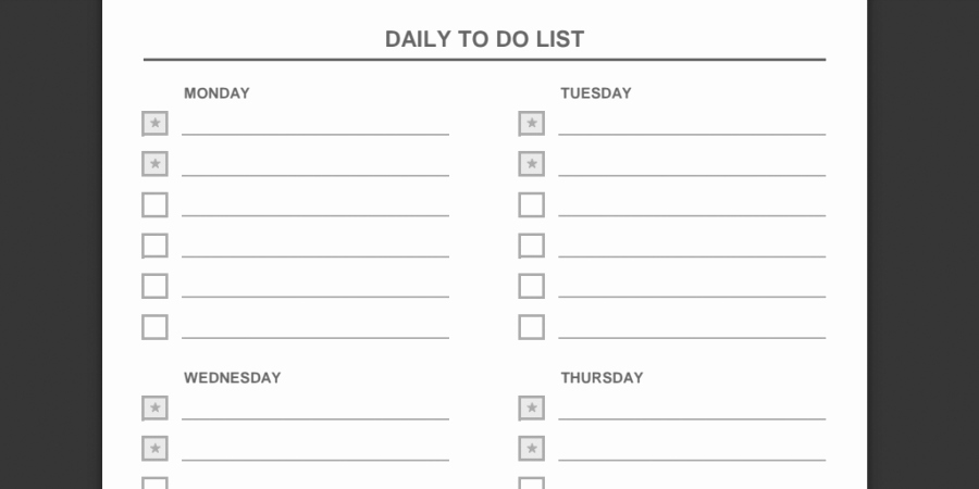 Daily Task List Template Word New Every to Do List Template You'll Ever Need Business 2