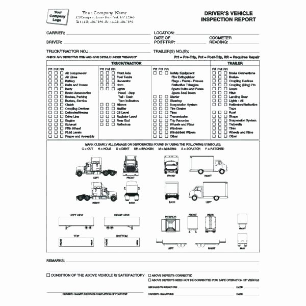 Daily Vehicle Inspection form Template Best Of Truck Inspection form Template – Munityfoodlaw