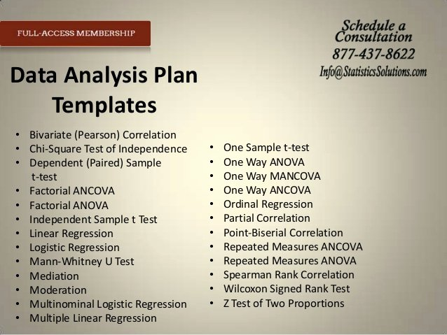 Data Analysis Plan Template Awesome tools to Expedite Your Proposal Irb and Results Chapter