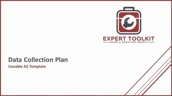 Data Analysis Plan Template Best Of Ready to Use Data Collection Plan Template by Expert toolkit