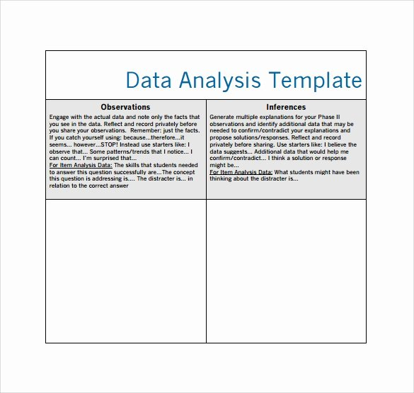 Data Analysis Plan Template Inspirational Sample Data Analysis 6 Documents In Pdf Word Google