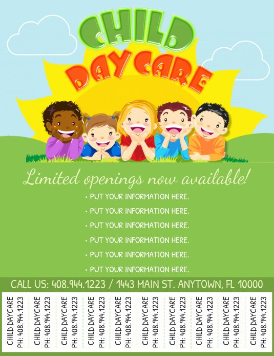 Daycare Flyers Templates Free Awesome Copy Of Daycare Flyer