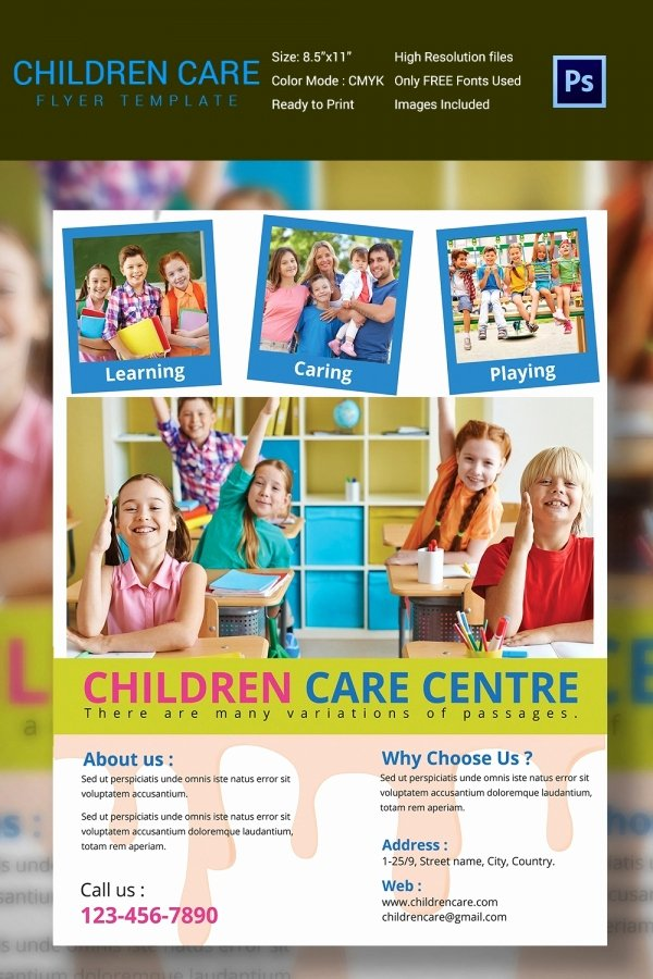 Daycare Flyers Templates Free Awesome Daycare Flyer Template 27 Free Psd Ai Vector Eps