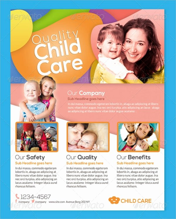 Daycare Flyers Templates Free Beautiful Frre 17 Day Care Flyers In Word Psd Ai Eps Vector