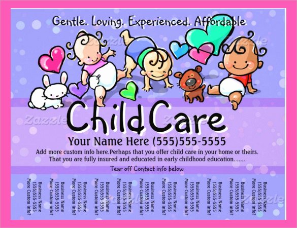Daycare Flyers Templates Free Fresh 33 Daycare Flyer Templates Word Psd Ai Eps Vector