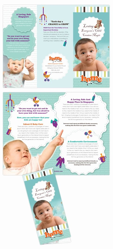Daycare Flyers Templates Free Fresh Baby toddler & Child Day Care [design] Brochures
