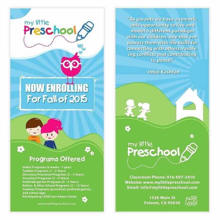 Daycare Flyers Templates Free Fresh Preschool Flyer Template 06
