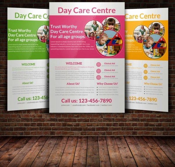 Daycare Flyers Templates Free Lovely 31 Elegant Daycare Flyers Word Psd Ai Eps Vector