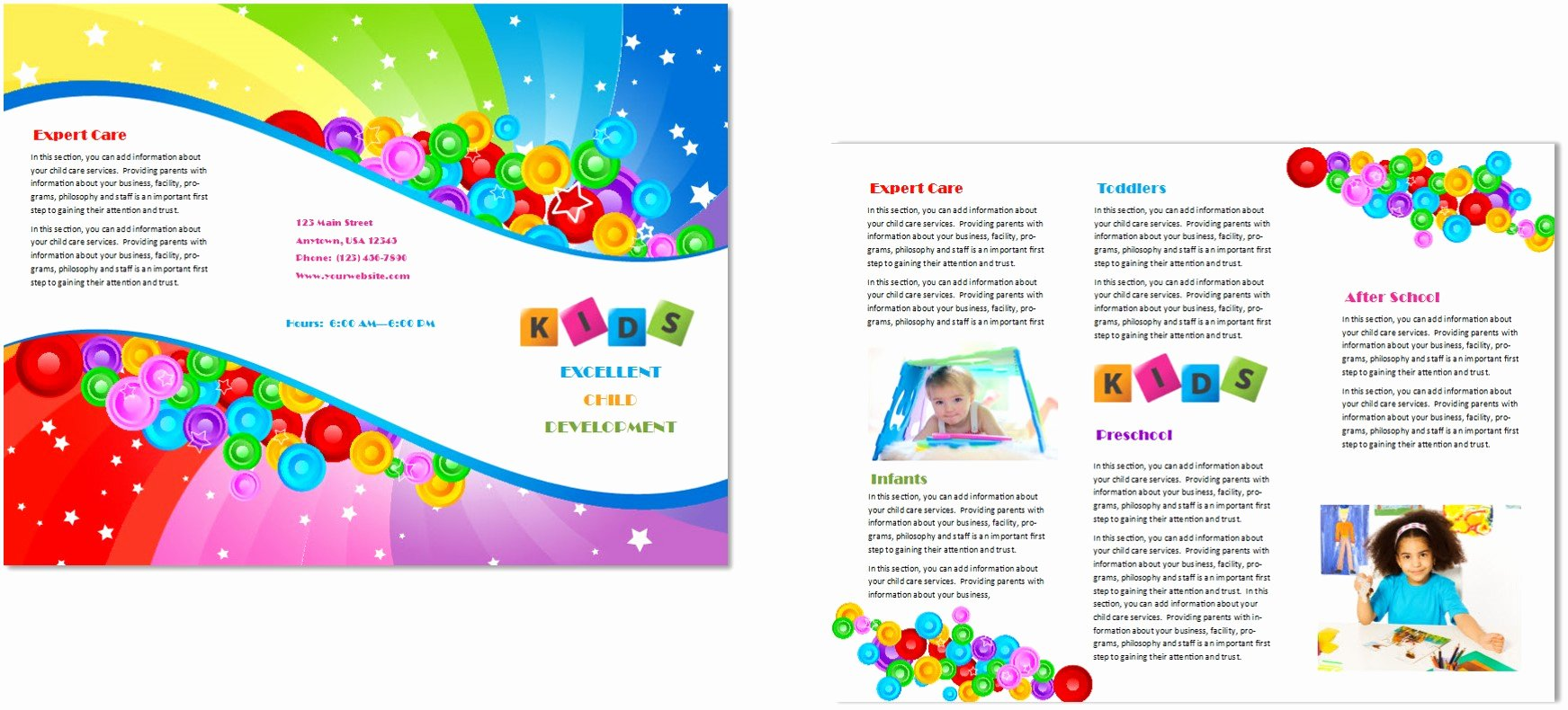 Daycare Flyers Templates Free Luxury Child Care Brochure Template 7 Child Care Owner