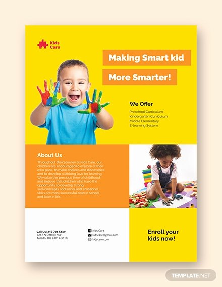 Daycare Flyers Templates Free New 20 Daycare Flyer Templates Word Psd Ai Vector Eps