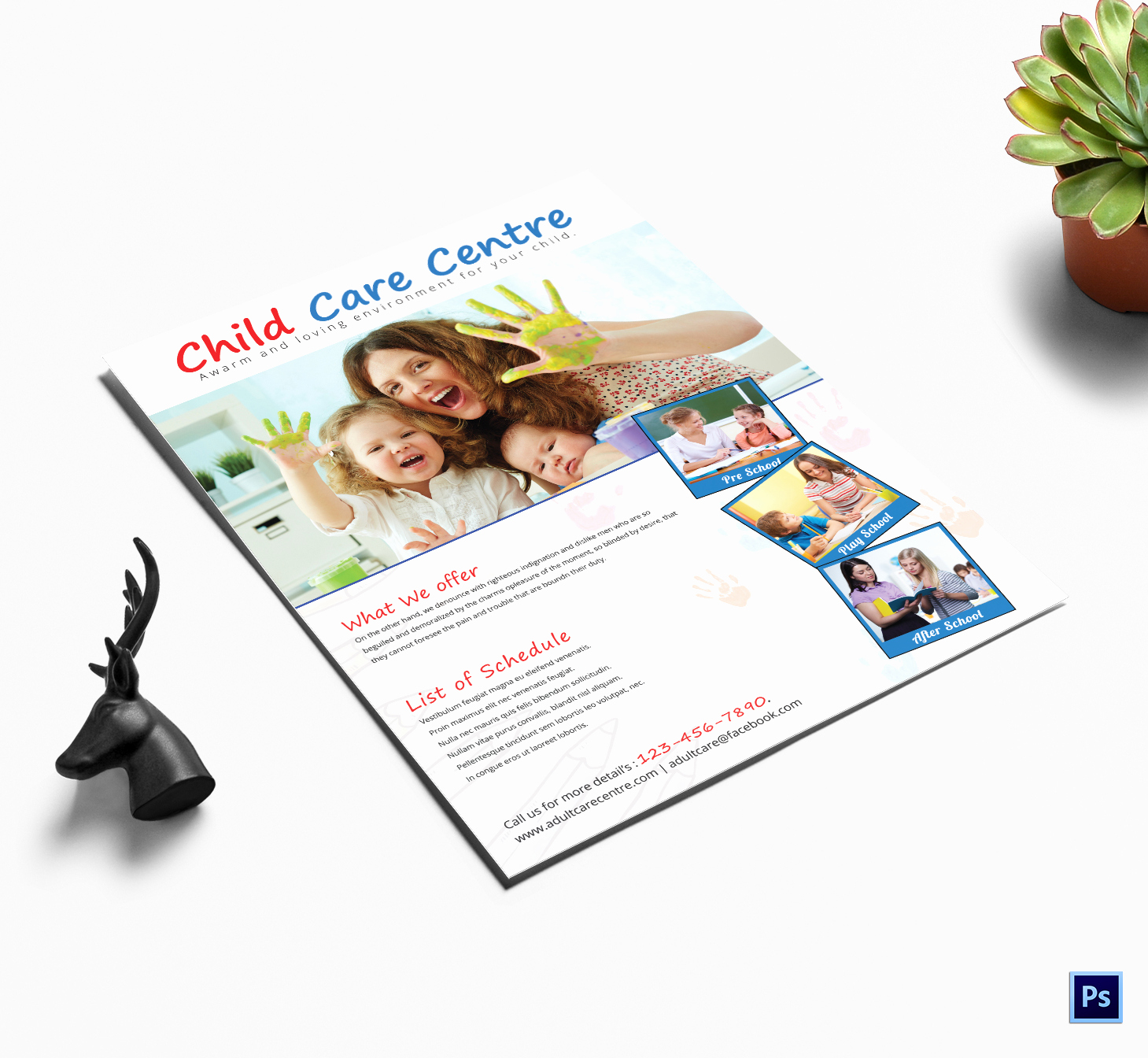 Daycare Flyers Templates Free Unique 25 Beautiful Free & Paid Templates for Daycare Flyers