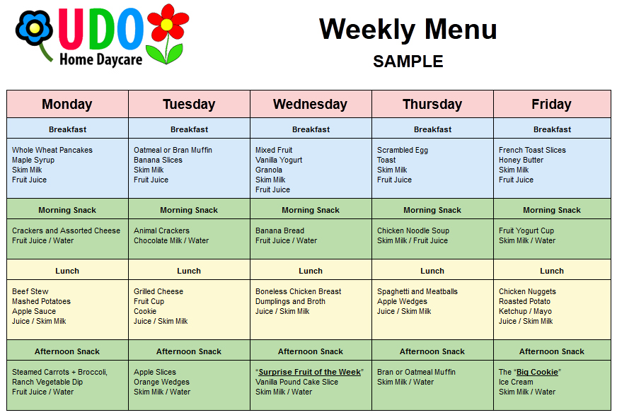 Daycare Monthly Menu Template Beautiful 9 Best S Of Nursing Home Menu Plans Sample Daycare
