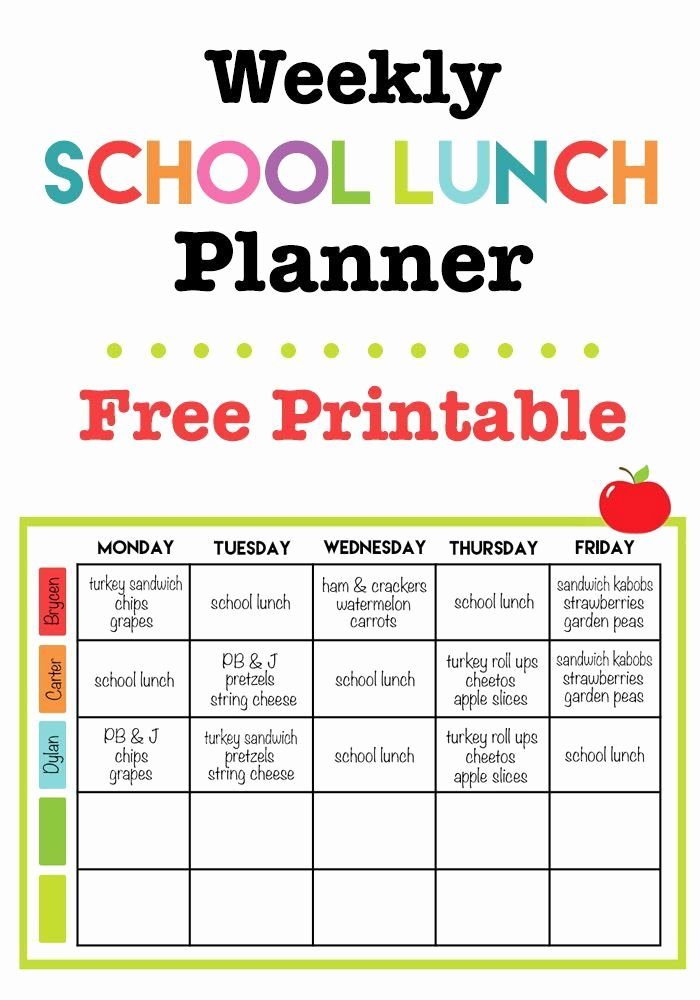 Daycare Monthly Menu Template Lovely Best 25 School Lunch Menu Ideas On Pinterest