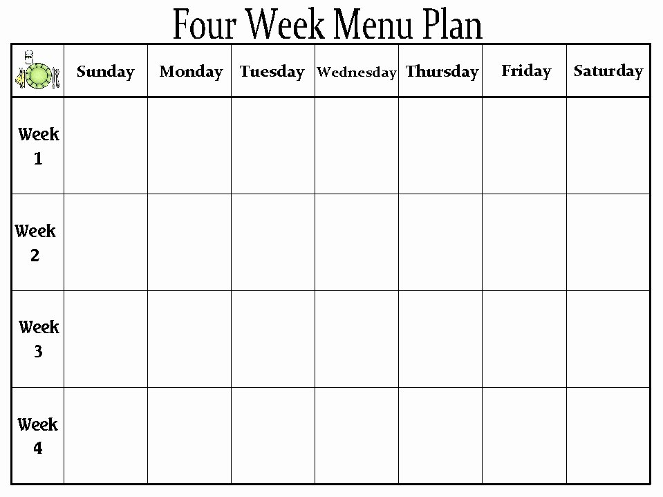 Daycare Monthly Menu Template New the Creative Homemaker My organized Home Part 2 Meal Prep