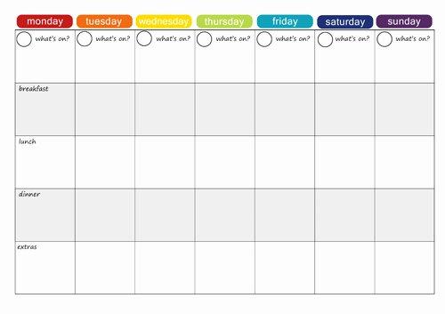 Daycare Monthly Menu Template Unique More Free Printable Menu Plans Picklebums