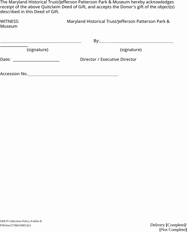 Deed Of Gift Template Elegant Download Maryland Quitclaim Deed Of Gift for Free