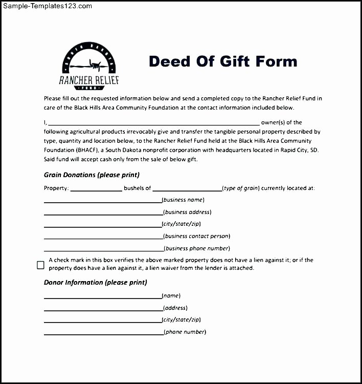 Deed Of Gift Template Fresh Gift Deed format In Marathi Pdf Gift Ideas