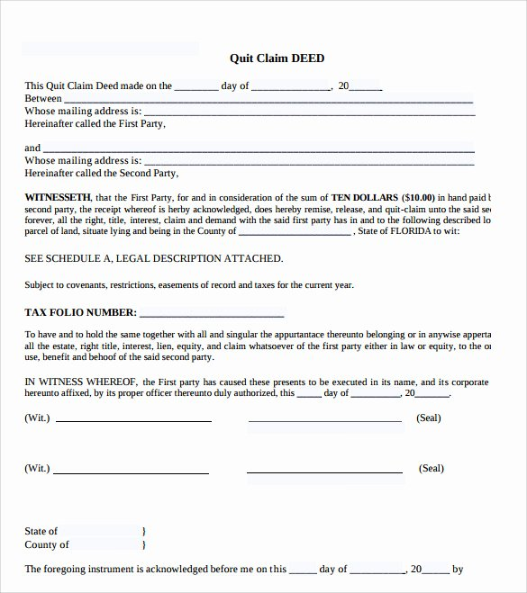 Deed Of Gift Template Unique 20 Of Gift Claim form Template