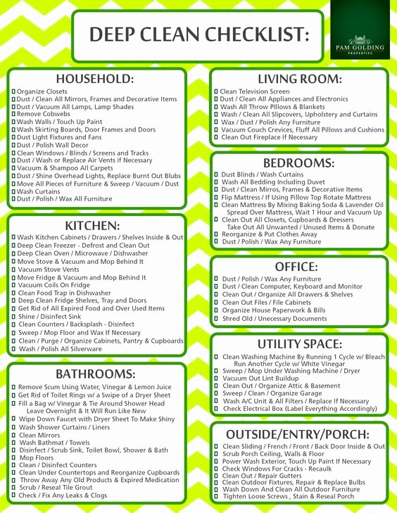Deep Cleaning Checklist Template Best Of Easy Cleaning Schedule for Working Moms Women Fitness