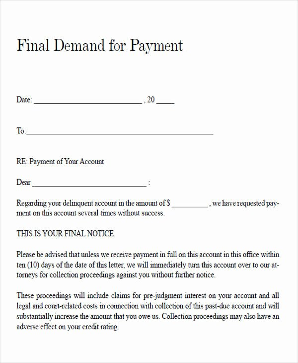 Demand for Payment Letter Template Best Of 39 Demand Letter Samples Pdf Google Docs Apple Pages