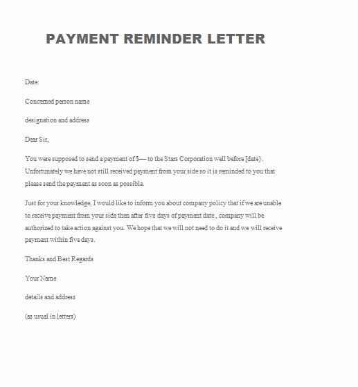 Demand for Payment Letter Template Fresh Demand for Payment Letter Template