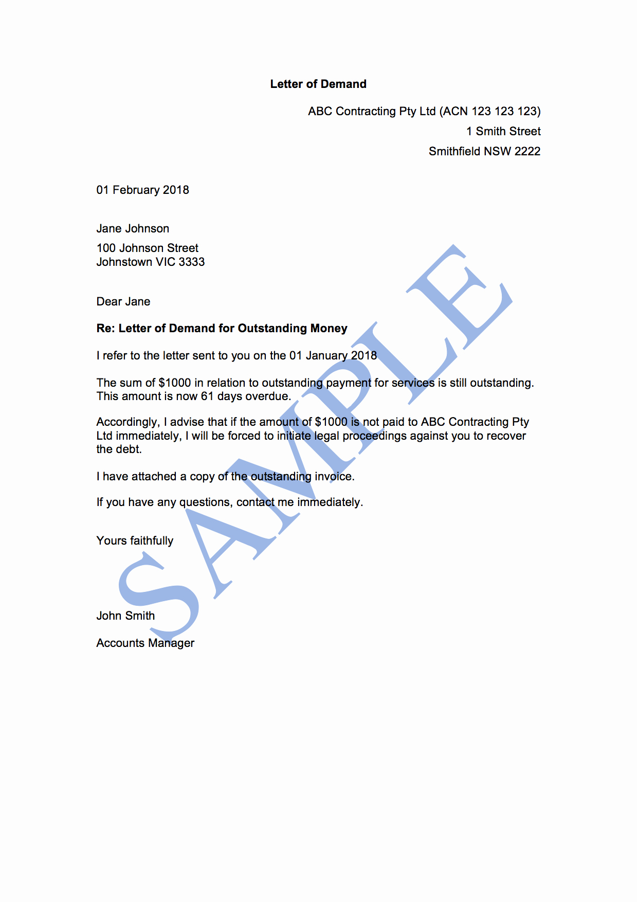 Demand Letter Template Free Elegant Letter Of Demand 2nd attempt Free Template