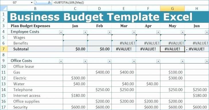 Department Budget Template Excel Luxury Department Bud Template Excel