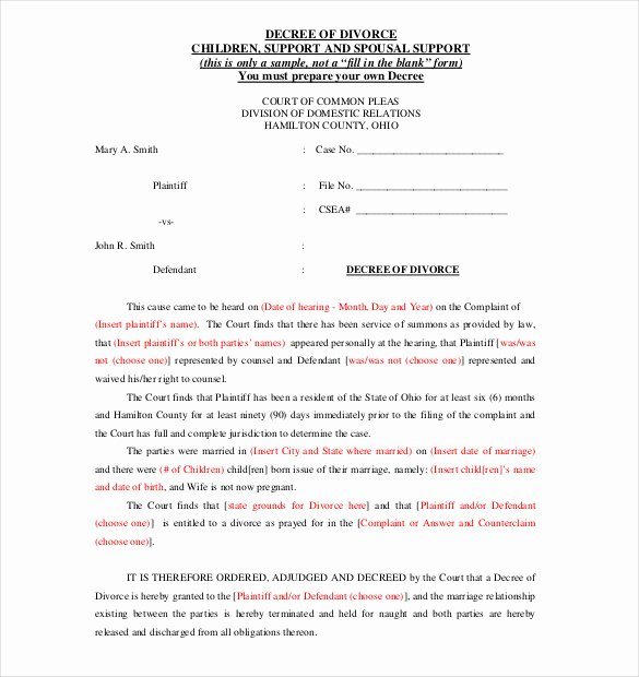 Divorce Agreement Template Free Awesome 12 Divorce Agreement Templates Pdf Doc