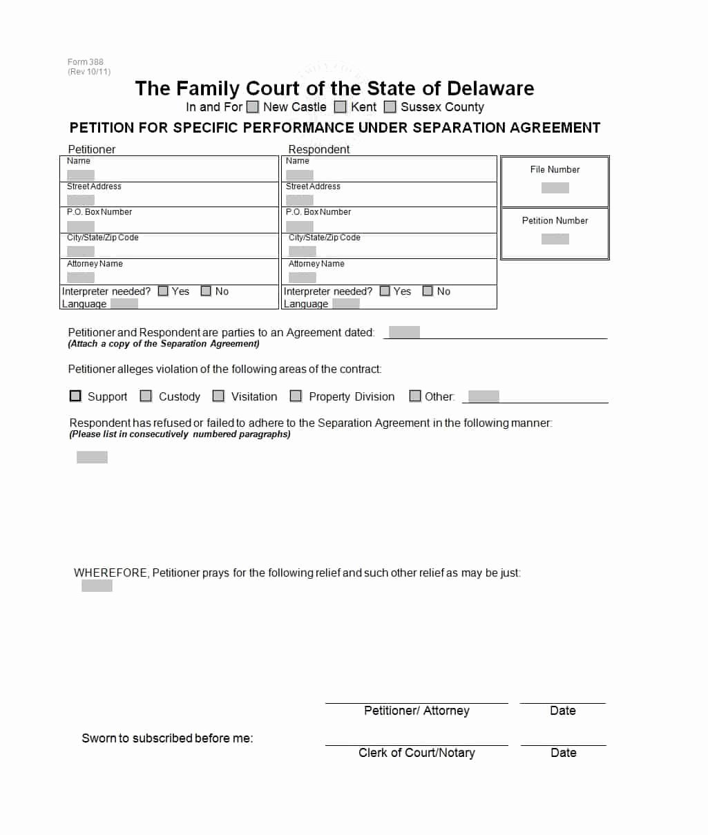 Divorce Agreement Template Free Inspirational 43 Ficial Separation Agreement Templates Letters