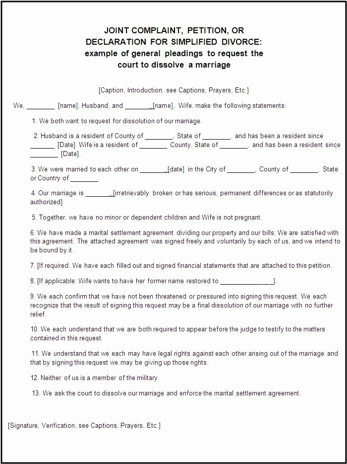 Divorce Agreement Template Free Luxury Divorce forms