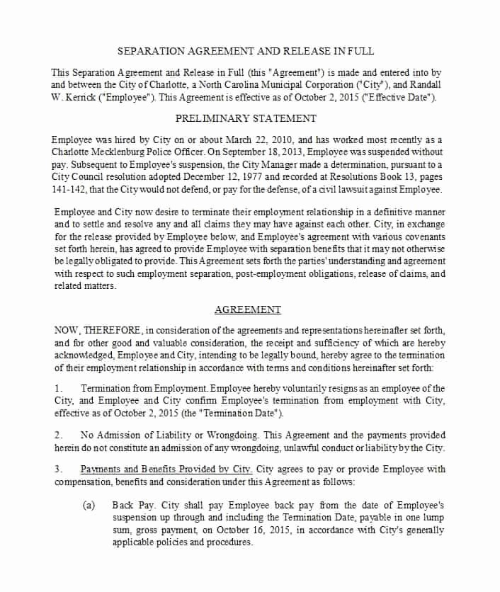 Divorce Agreement Template Free New 43 Ficial Separation Agreement Templates Letters